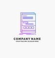 browser dynamic internet page responsive purple vector image vector image