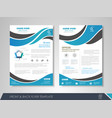 business brochure blue vector image