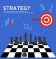 business strategy and planning concept vector image vector image