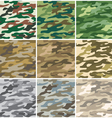 Camouflage seamless patterns vector | Price: 1 Credit (USD $1)