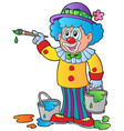 cartoon clown artist vector image vector image