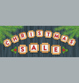 christmas sale banner 01 vector image vector image