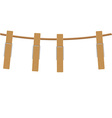 clothespins on rope vector image vector image