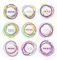 colored rings banners colorful overlapping vector image