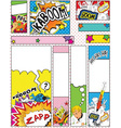 Comic Book Style Banners in Sizes 88 x 31 468 x 60 vector image
