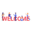 concept new team member welcome word vector image