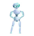 cyber humanoid icon cartoon style vector image vector image