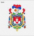 emblem of quito city of ecuador vector image