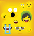 emoji emoticon smiley vector image