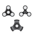 fidget spinner set morden stress relieving toy vector image