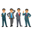 four businessmen on white background vector image