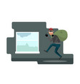 funny thief character vector image