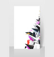 geometric abstract modern triangles vector image vector image