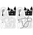 graveyard maze vector image