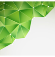 green abstract triangles vector image vector image