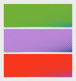 halftone circle pattern banner background vector image vector image