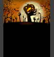 halloween invitation with zombies hands vector image