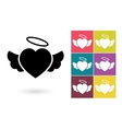 heart icon or pictograph vector image