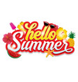 hello summer greeting design vector image