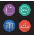 Holiday shopping flat linear icons set vector image vector image