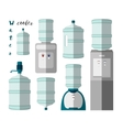 Icons for water cooler appliance vector image vector image
