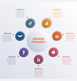 infographic template seven option circles banner vector image vector image