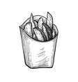 ink sketch potato wedges vector image vector image