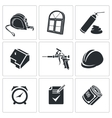 Installation of windows Icons set vector image