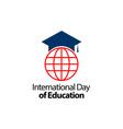 international day education celebration vector image vector image