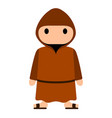 isolated franciscan monk vector image
