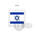 Israel Flag Postage Stamp vector image vector image