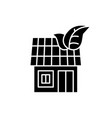 it house black icon sign on isolated vector image vector image