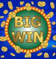 jackpot gambling retro banner sign decoration vector image vector image