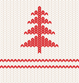 Knitting red vector image