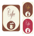 label coffee vector image vector image