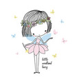 little forest fairy vector image vector image