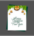 merry christmas and happy new year jingle bell vector image vector image