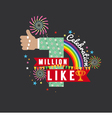 One Million Likes Celebration vector image