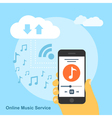 online music service vector image vector image