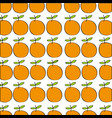 oranges pattern fresh fruit drawing icon vector image
