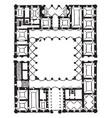 plan farnese palace high renaissance palace vector image vector image