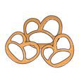 pretzel germany snacks vector image vector image