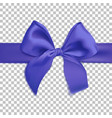 realistic blue bow isolated on transparent vector image