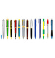 realistic pens isolated fountain pens and spring vector image vector image