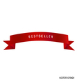 red ribbon white background vector image vector image