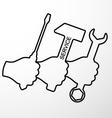 Repair symbol vector image