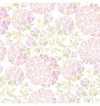 rosy pastel colors peony flowers seamless pattern vector image vector image