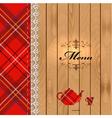 Scottish Food Menu Design vector image vector image