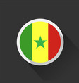 senegal national flag on dark background vector image vector image