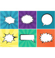 set of bright retro speech bubbles with background vector image vector image